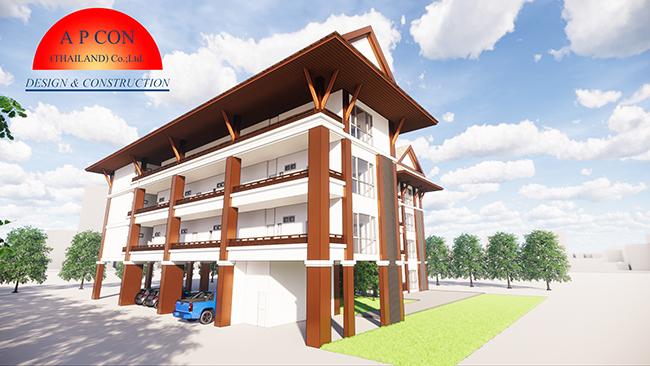 โครงการ อาคารพักอาศัย สูง 4ชั้น