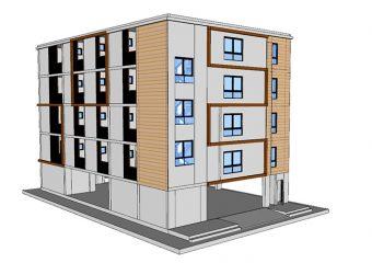 5层住宅楼,1200平方米